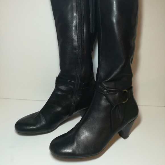Aerosoles Shoes Aerosole Tall Black Dress Boots Sz 7 Ankle Detail